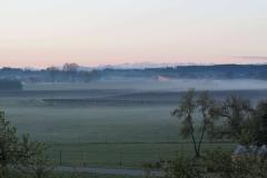 der Blick nach Osten am Morgen